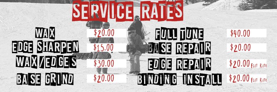 SERVICE RATES