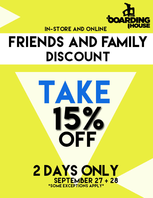 FRIENDS AND FAMILY SALE » The Boarding House, Bliss & Little Rippers