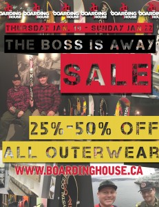 Boss Is Away Sale